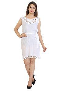 Rayon Crepe Women Crosia Western Dress