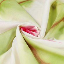 Green tie dye shibori cotton fabric