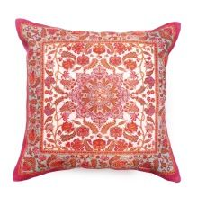 Pink handmade cotton rug