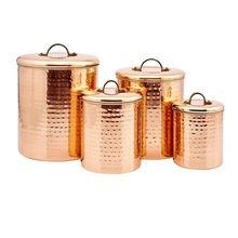 Hammered Copper Canister Set
