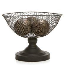 Wire Mesh Decorative Pedestal Basket