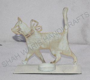 Decorative Shadow Cat T Light Holder