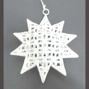 Christmas Tree ornament White Hanging Star