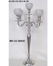 Crystal Diamond Votive Candelabra