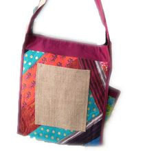 Jute Cotton Fabric Fashion Long Shoulder Bag