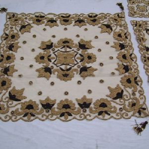 Net Fabric Embroidery Table Cover