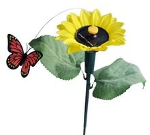 Solar Fluttering Butterfly with Sunflower Panels