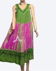 Tie And Dye Woman Maxi Dress
