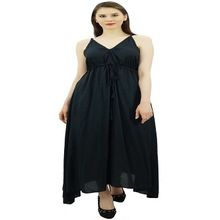 Women Long Maxi Cotton Beach Dress
