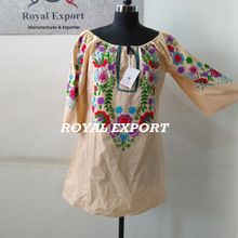 Summer Casual Mexican Tunic Dress