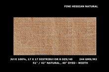 fine hessian cloth jute natural fabric