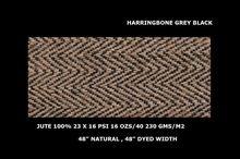 herringbone pattern jute fabric natural color