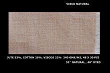 Viscose Blended Laminated Jute Fabric