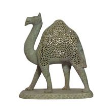 Marble Undercut Carving Camel Statue