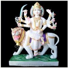 Small Ambaa Mata Marble Statue