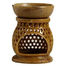 Soapstone Hand Carved Aroma Lamp Oil Diffuser