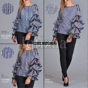 Knotted Multi Sleeves Top
