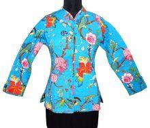 Indian Vintage Kantha Fabric cotton Winter Jacket