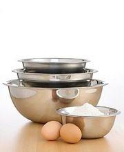 Stainless Steel 4 Pcs Mixing Bowl Set