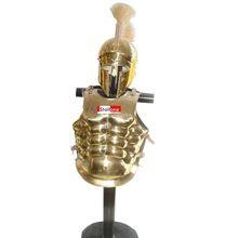 Roman Musculata Brass Armour With Helmet