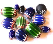 Chevron Glass Beads