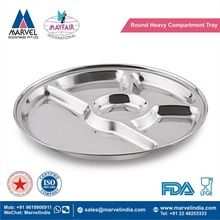 Round Heavy Compartment Tray