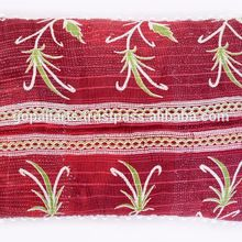 cotton kantha pillow cover