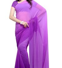 Georget Plain Bollywood Saree