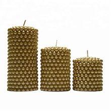 Fancy Wax Candle Pillar