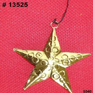 Metal Christmas Hanging Star Shape