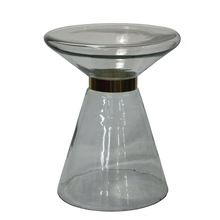 Small Round Glass Side Table