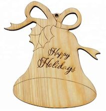 Wooden Bell Christmas Hanging