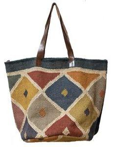 Handmade Jute Dhurrie Bags