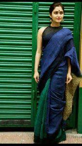 Linen Saree With Pallu Ghicha
