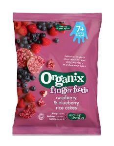 Organix Organic Raspberry & Blueberry Rice Cakes Gluten Free, 50g