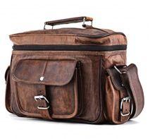 leather camera messenger bag