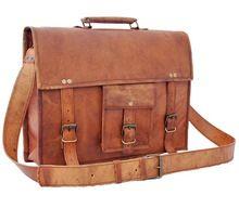 mens leather satchel laptop bag