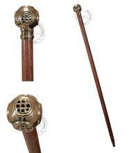 Brass Diving Helmet Walking Stick