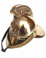 Brass Fireman Armor Helmet