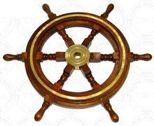 Marine Wooden Steering Ship Wheel