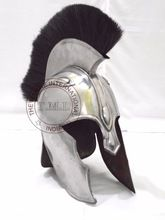 TROY ACHILLES ARMOR HELMET WITH BLACK PLUME