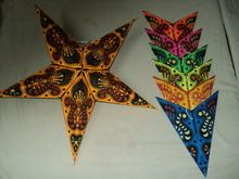 printed papers star lanterns