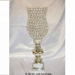 Diamond Crystal Hurricane Candle Holder