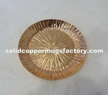Solid Copper Cake Plate