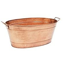 COPPER FINISH WITH HAMMERED PLANTER