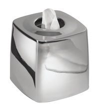 SHINY SILVER TISSUE BOX