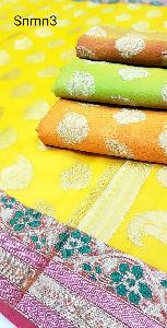Cotton Check Sarees