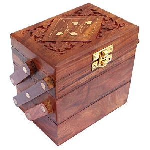 Wooden Foldable Jewellery Box