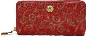 Ri2k Women Red Genuine Leather Wallet  (12 Card Slots)