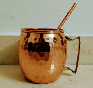 Copper Mugs and straw